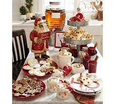 pottery barn christmas table decorations carved wood santa pottery barn