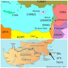 Map Of Cyprus A Matter Of Choice Our Little Bit Of Cyprus