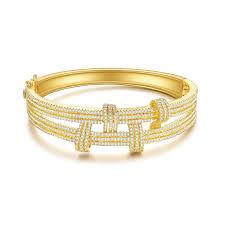 wedding bangle bracelet images 2018 spring bella lotus quot tie of love quot fashion cz stone 18k gold jpg