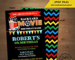 Backyard Birthday Party Invitations by Backyard Etsy