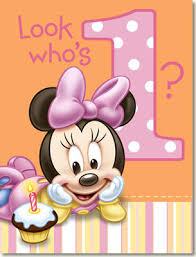 1st birthday minnie mouse 1st birthday invitations 8pk parties4kids