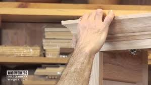 how to add crown moulding to cabinets woodworking diy project installing crown molding on a