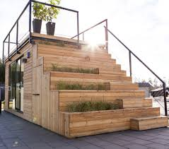 swedish cabin with roof top garden and retractable outdoor kitchen swedish cabin
