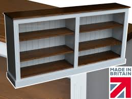 Ebay White Bookcase by Low White Painted Bookcase 6ft Wide Extra Deep Display Shelving