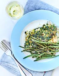 cuisiner les haricots verts cabillaud rôti aux herbes et haricots verts pour 4 personnes