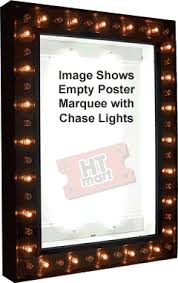 lighted movie poster frame lighted movie poster light box with chase lights home theater mart
