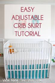 tutorial how to make sew an easy diy crib skirt