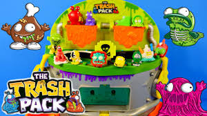 trash pack scum drum garbage game play doh spongebob cars