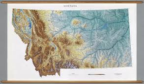 Montana Maps Montana Physical David Rumsey Historical Map Collection