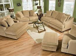 Brown Fabric Sofa Set Furniture Tufted Brown Fabric Couch With Three Pieces Back