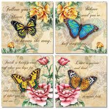 amazon com 4 beautiful butterflies and flowers inspirational