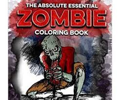 essential zombie coloring book brain zombies