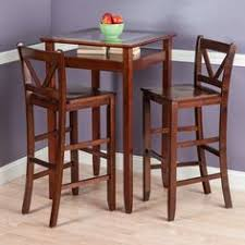 3 Pc Kitchen Table Sets by 260 95 Winsome Parkland 3pc Square High Pub Table Set Modern