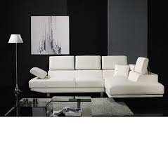 Modern Leather Sectional Sofas Dreamfurniture Com Divani Casa T60 Modern Bonded Leather