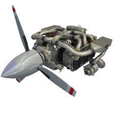 lexus v8 aircraft engine continental io 550 aircraft engine 3d max vehicle parts