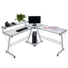 Glass Corner Computer Desks For Home Sale Tempered Glass Corner Table Home Office Computer Desk L