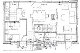 Floorplans For Achill Cottages - Floor plans for open plan kitchen family room