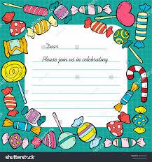 hand drawn birthday invitation card template stock vector