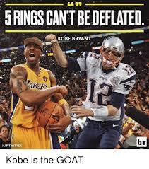 Kobe Bryant Memes - 5ringscantbedeflated kobe bryant pat br hit twitter kobe is the goat