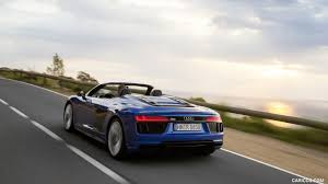 Audi R8 V10 Spyder - 2017 audi r8 v10 spyder color ara blue rear three quarter