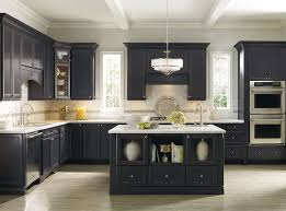 white kitchen cabinets with black island countertops black cabinets kitchen brown wooden glass open