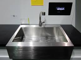 Stainless Faucets Kitchen by Sink U0026 Faucet Kohler Stainless Steel Kitchen Sink Kohler Cast