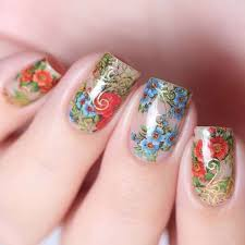 127 best floral nails images on pinterest floral the day and