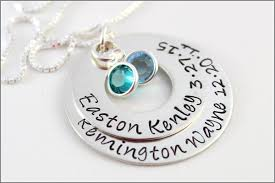 Mom Necklaces With Children S Names Sterling Silver Personalized Cluster Necklace 3 Pendant Name