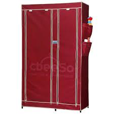 cbeeso portable metal frame wardrobe closet cb260 mr amazon in