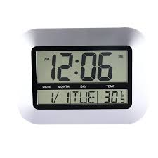 bedroom clocks bedroom clocks home decor alarm clocks temperature display silver