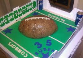 homemade dallas cowboys football cake
