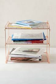 Wire Desk Organizer by Copper Wire Shelf Shelves Spaces And Apartments