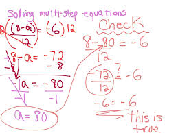 showme two voice poems on how to do multi step equations