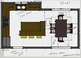 Kitchen Floor Plans With Island Happy Kitchen Floor Plans Island Design Ideas Nice Best Gallery