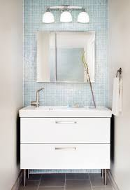 bathroom foxy small blue bathroom decoration using mirror oak
