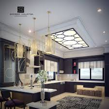 25 gorgeous kitchens designs with gypsum false ceiling u0026 lights