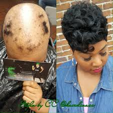 short hair styles for women with alopecia alopecia client full crown quickweave black women short cuts
