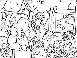 coloring pages for kids playing in the garden mehmetcetinsozler com