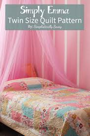 simple size quilt pattern by patterns and tutorials