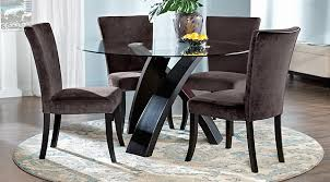 round kitchen table for 5 del mar ebony 5 pc round dining set dining room sets black