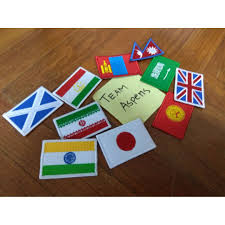 Country Flags Patches Premier Traveler World Globe Country Flag Embroidered Iron On