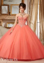 coral pink quinceanera dresses tulle gown quinceanera dress style 60007 morilee