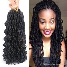 crochet hair 2017 wavy faux locs crochet hair 24roots pack24inch crochet braids