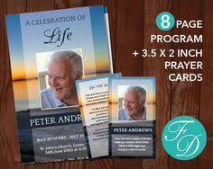 funeral program template set 4 page program plus prayer card