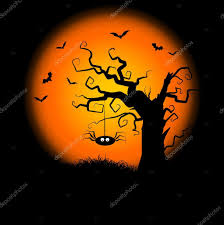 halloween spiders background spooky halloween tree background u2014 stock photo kjpargeter 9359708
