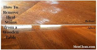 how to remove stains from wood table how to remove heat stains from a wooden table menclean com