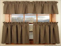 country style curtains and drapes kitchen country style curtains