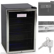 glass door mini refrigerator wine cooler beer beverage bar fridge