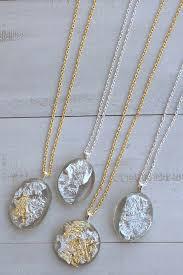 necklace pendant making images Diy gold silver leaf resin pendants resin crafts jpg