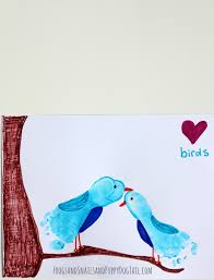 love bird footprint art footprint art footprints and bird